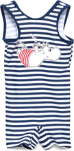 Swimsuit Stripe Badedrakt Badetøy Blå Mumin