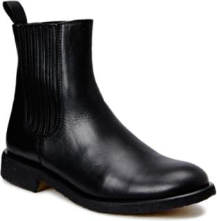 Chelsea Boot Støvlet Chelsea Boot Sort ANGULUS