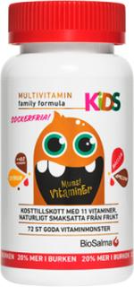 BioSalma Multivitamin Kids D3+ (extra d3-vitamin), 72st sockerfria mon