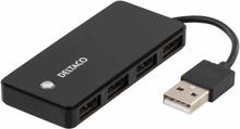 USB-hubb 2.0 med 4 portar