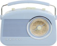 König AM/FM-radio i retrodesign BLÅ