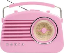 König AM/FM-radio i retrodesign PINK