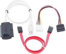 USB 2.0 till SATA / IDE omvandlare / adapter kit