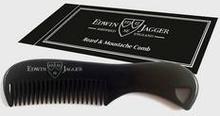 Edwin Jagger Beard & Moustache Comb Svart