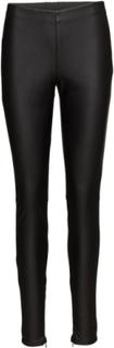 Faux Leather Leggings Leather Leggings/Bukser Sort Saint Tropez