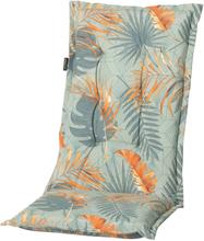 Madison Outdoor Stolsdyna med hög rygg Dotan 123x50cm blå och korall
