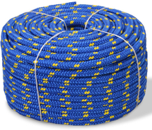 vidaXL Båtlina i polypropylen 10 mm 50 m blå