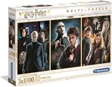 Palapeli 3 x 1000 Palaa Harry Potter