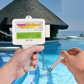 PH-Mittari Pool, Effektiv Klor och Ph mätare