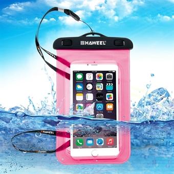 Vedenpitävä laukku hihnalla iPhone / Samsung / Sony / Huawei