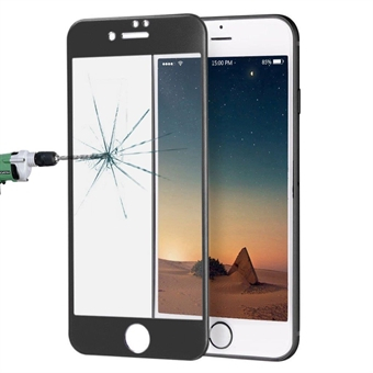 Kaareva karkaistu koko näytön suojalasi iPhone 8 Plus / 7 Plus - Musta