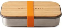 Matlåda i rostfritt stål med bambulock - Orange, 900 ml