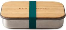 Matlåda i rostfritt stål med bambulock - Ocean, 900 ml