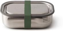 Matlåda i rostfritt stål 3-i-1 - Olive, 1 L