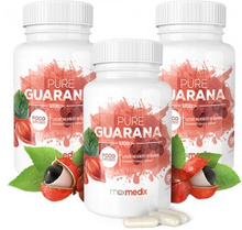 Pure Guarana Capsules - Energigivende Frukttilskudd Fra Amazonas - 1200mg i 90 kapsler - 3-pakning