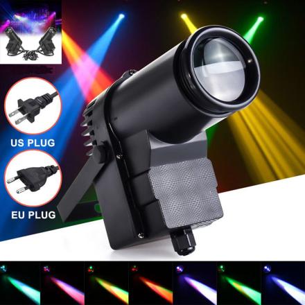 ICOCO 10W DMX RGBW LED Stage Light Pinspot Light Beam Spotlight 6CH Professional DISCO KTV DJ Stage Lighting Effect AC110-240V