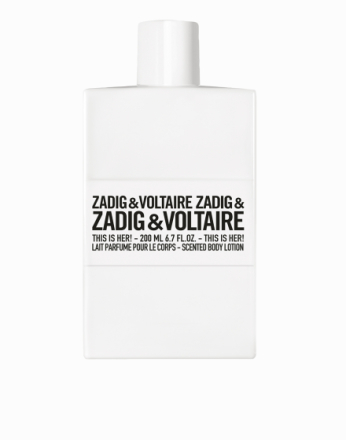 Parfyme - Transparent Zadig & Voltaire This Is Her Body Lotion 200ml