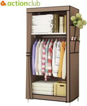 Actionclub Minimalist Modern Non-woven Cloth Wardrobe Baby Storage Cabinet Folding Steel individual Closet Bedroom Furniture