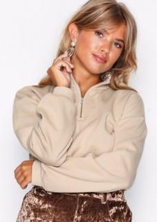 NLY Trend Cropped Zip Sweat Sweatshirts