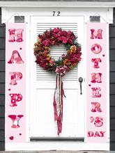 Happy Muttertag Banner Home Yard Indoor Outdoor Party Dekor Tür Vorhang Festival Atmosphäre Couplet Banner