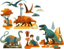 Djeco - Window Stickers- Dinoraures