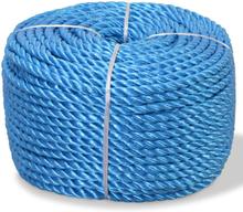 vidaXL Tvinnat rep i polypropylen 6 mm 200 m blå