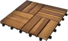 vidaXL Balkongplattor av Akaciaträ 30 x 30 cm 10 st