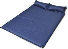 vidaXL Blå självuppblåsbart liggunderlag 190 x 130 x 5 cm (dubbelsäng)