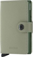 Secrid Miniwallet liten plånbok i skinn och metall, Ljusgrön