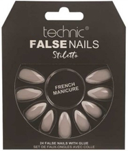 Technic False Nails Stiletto French Manicure 24 stk