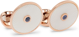 Dreamcatcher Rose Gold-plated, Mother-of-pearl And Sapphire Cufflinks - Rose gold