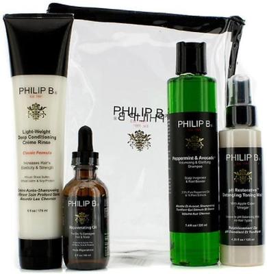 Philip B Four Step Hair & Scalp Treatment Set - Cl