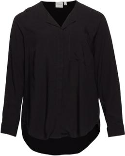 Jrveronica Ls Solid Shirt - K Noos Bluse Langærmet Sort JunaRose