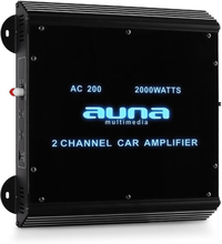 2-kanals bilslutsteg Auna bilförstärkare 2000W akryl