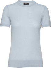 Basic Tee.Feather Ca T-shirts & Tops Knitted T-shirts/tops Blå Theory