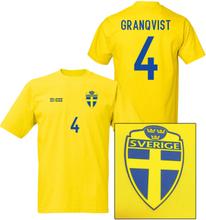 Sverige fotbollströja i polyester - granqvist 4 tryck