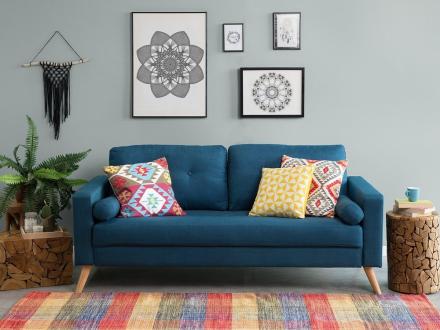 Sofa 2-pers. Mørkeblå Kalmar