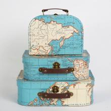 Sass & Belle Vintage World Map bagage sæt