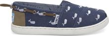 TOMS Schuhe Oceana Dunkelblau Whale Embroidery Slip-Ons Für Kinder - Größe 38