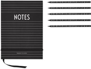 Design Letters, Paket Design Letters Anteckningsbok + Pennor
