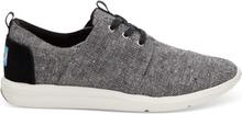 TOMS Schuhe Schwarz Slub Chambray Del Rey Sneaker Für Damen - Größe 35.5