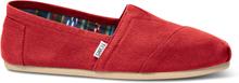 TOMS Schuhe Rot Canvas Classics Für Herren - Größe 40.5