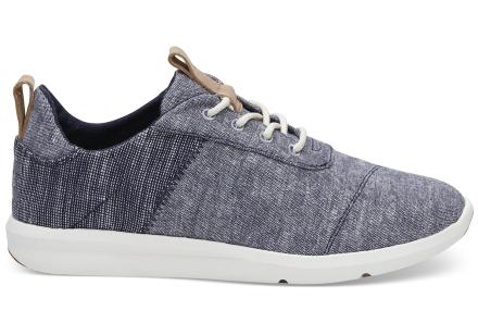 TOMS Schuhe Dunkelblau Chambray Mix Cabrillo Sneaker Für Damen - Größe 36.5