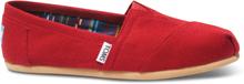 TOMS Schuhe Rot Canvas Classics Für Damen - Größe 43.5