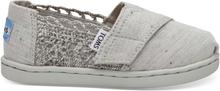 TOMS Schuhe Grau Crochet Multi Fleck Tiny Classics - Größe 24.5