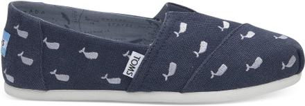 TOMS Schuhe Oceana Washed Canvas Embroidered Whales Classics Für Damen - Größe 36