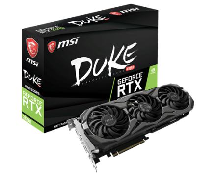 MSI GeForce RTX 2080 Duke OC 8GB (GeForce RTX 2080 DUKE 8G OC)