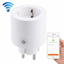 Wi-Fi stikkontakt plug m. tænd/sluk via iPhone/iPad/Android (Alexa, IFTTT og Google Home understøttelse)