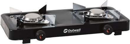 Outwell Appetizer 2 Burner Campingkoger sort/sølv 2018 Gaskogeplader