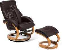 Lämmittävä Hierova nojatuoli ruskea FORCE